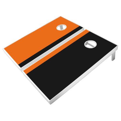 Orange and Black Add Your Logo Cornhole Set