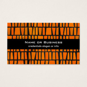 Black and orange business cards templates zazzle orange and black african tribal pattern business card colourmoves