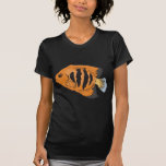 orange and black angelfish t-shirt
