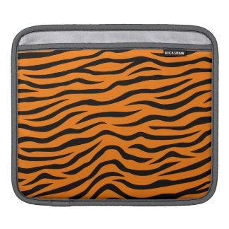 Orange and Black Animal Print Tiger Stripes iPad Sleeves
