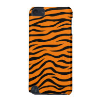 Orange and Black Animal Print Tiger Stripes iPod Touch (5th Generation) Cover