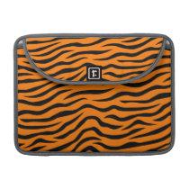Orange and Black Animal Print Tiger Stripes MacBook Pro Sleeve