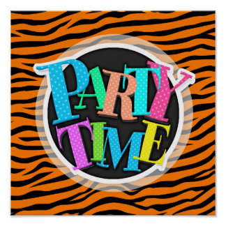 Orange and Black Animal Print Tiger Stripes