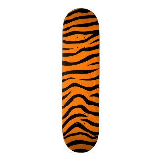 Orange and Black Animal Print Tiger Stripes Skate Board Deck