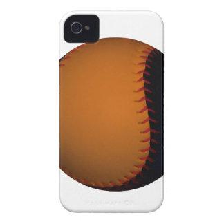 Orange and Black Baseball / Softball iPhone 4 Cover