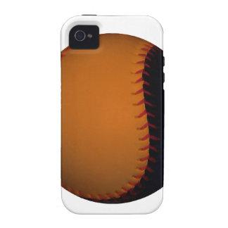 Orange and Black Baseball / Softball Vibe iPhone 4 Case