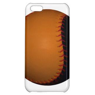 Orange and Black Baseball / Softball iPhone 5C Cover