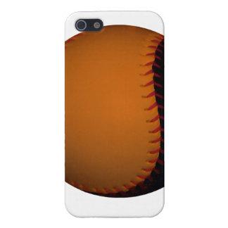 Orange and Black Baseball / Softball iPhone 5 Case