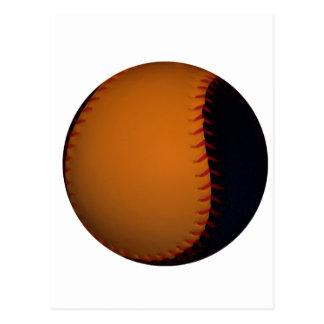 Orange and Black Baseball / Softball Postcard