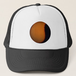 Orange and Black Baseball / Softball Trucker Hat