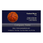 Orange and Black Basketball Double-Sided Standard Business Cards (Pack Of 100)