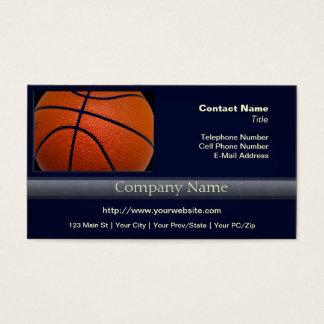 Orange and Black Basketball Business Card
