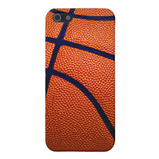 Orange and Black Basketball iPhone SE/5/5s Case