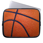 Orange and Black Basketball Laptop Computer Sleeves