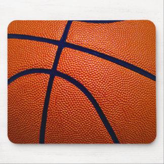 Orange and Black Basketball Mouse Pad