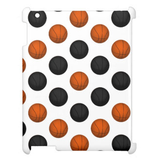 Orange and Black Basketball Pattern iPad Case