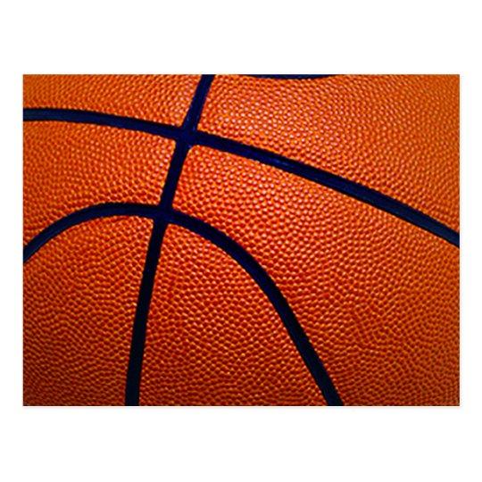 Orange and Black Basketball Postcard