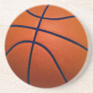 Orange and Black Basketball Sandstone Coaster