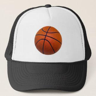Orange and Black Basketball Trucker Hat
