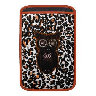 Orange and Black Bat and Leopard Spots MacBook Sleeve