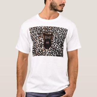 Orange and Black Bat and Leopard Spots T-Shirt