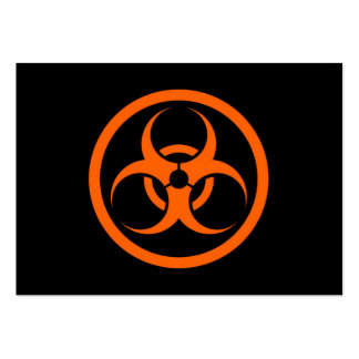 Orange and Black Bio Hazard Circle Business Card Templates