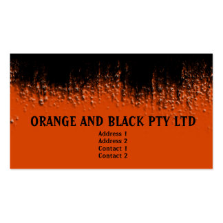 Orange and Black Blistered Business Card