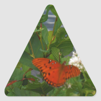 Orange and Black Butterfly at the Lake Triangle Sticker