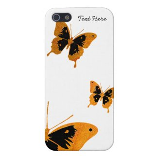 Orange and Black Butterfly iPhone 5 Case