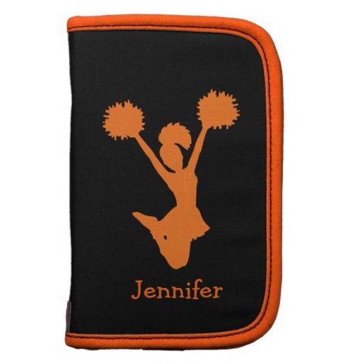 Orange and Black Cheerleader Smartphone Folio Planner