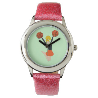 Orange and Black Cheerleader Watch