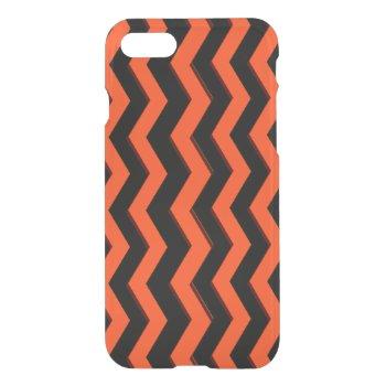 Orange and Black Chevron iPhone 7 Case