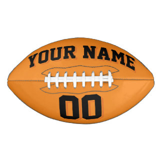 ORANGE AND BLACK Custom Football
