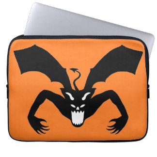 Orange And Black Devil Computer Sleeves