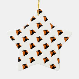 Orange and Black Diamond Kites Ceramic Ornament