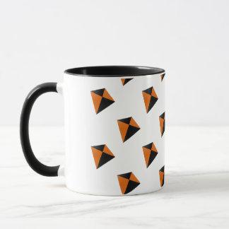 Orange and Black Diamond Kites Mug