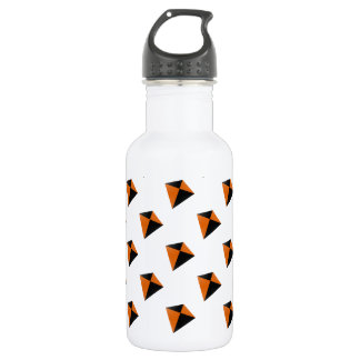 Orange and Black Diamond Kites Stainless Steel Water Bottle