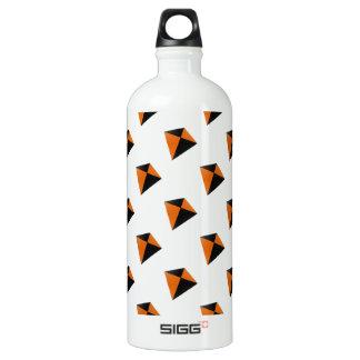 Orange and Black Diamond Kites Water Bottle