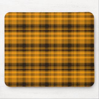 Orange and Black Flannel Mousepad