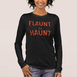Orange and Black Flaunt the Haunt Long Sleeve T-Shirt