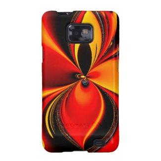 Orange and Black Flavor Fractal Samsung Galaxy S2 Case