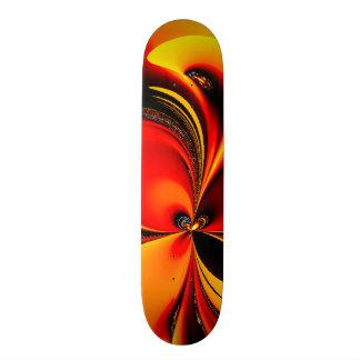Orange and Black Flavor Fractal Skateboard