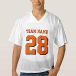 Orange and Black Football Sports Team Jersey