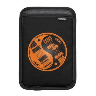 Orange and Black Guitar and Bass Yin Yang iPad Mini Sleeve