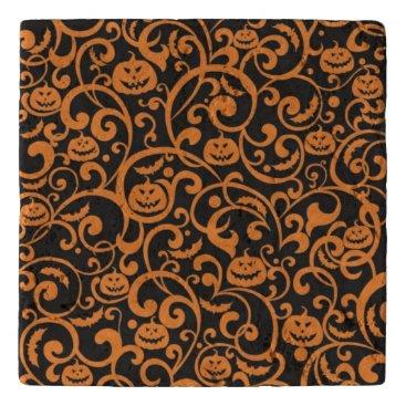 Halloween Themed Orange and Black Halloween Trivet