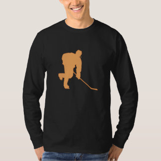 ORANGE AND BLACK HOCKEY T-Shirt