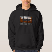 Orange and Black Houndstooth Cassette Hoodie