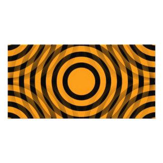 orange_and_black_interlocking_concentric_circles tarjeta con foto personalizada