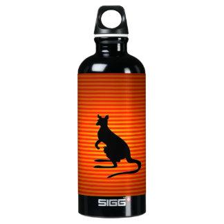 Orange and Black Kangaroo Silhouette SIGG Traveler 0.6L Water Bottle