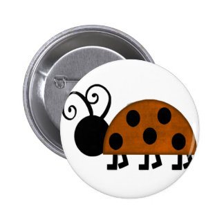 Orange and Black Lady Bug Buttons